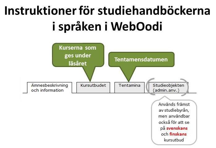 Studieverktyget WebOodi