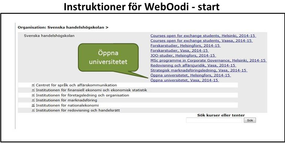 Instruktioner för WebOodi | hanken
