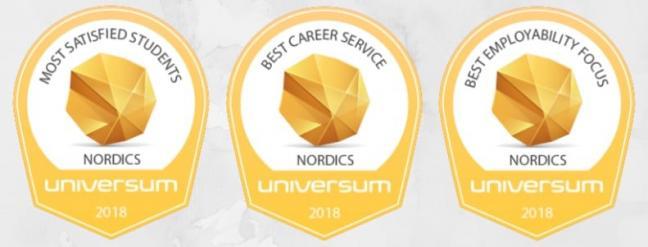 Hanken har de näst nöjdaste studenterna i Norden och våra karriärtjänster kvalar in på plats tre