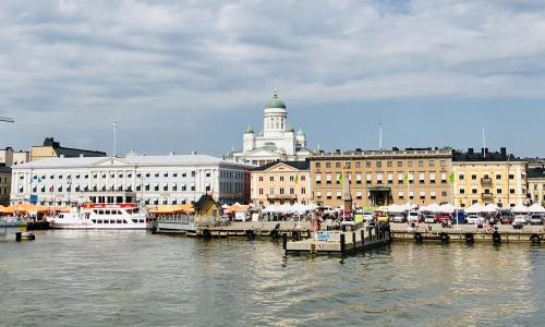 Helsinki centre from the sea