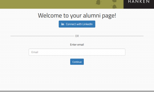 Preview of the alumni page