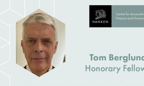 Tom Berglung, AFG Centre Honorary Fellow