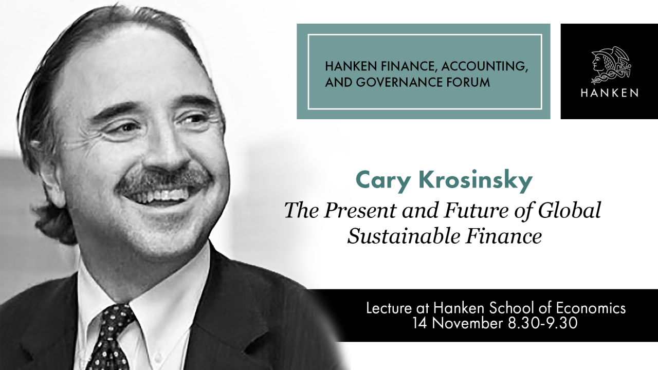 Cary Krosinsky on Global Sustainable Finance
