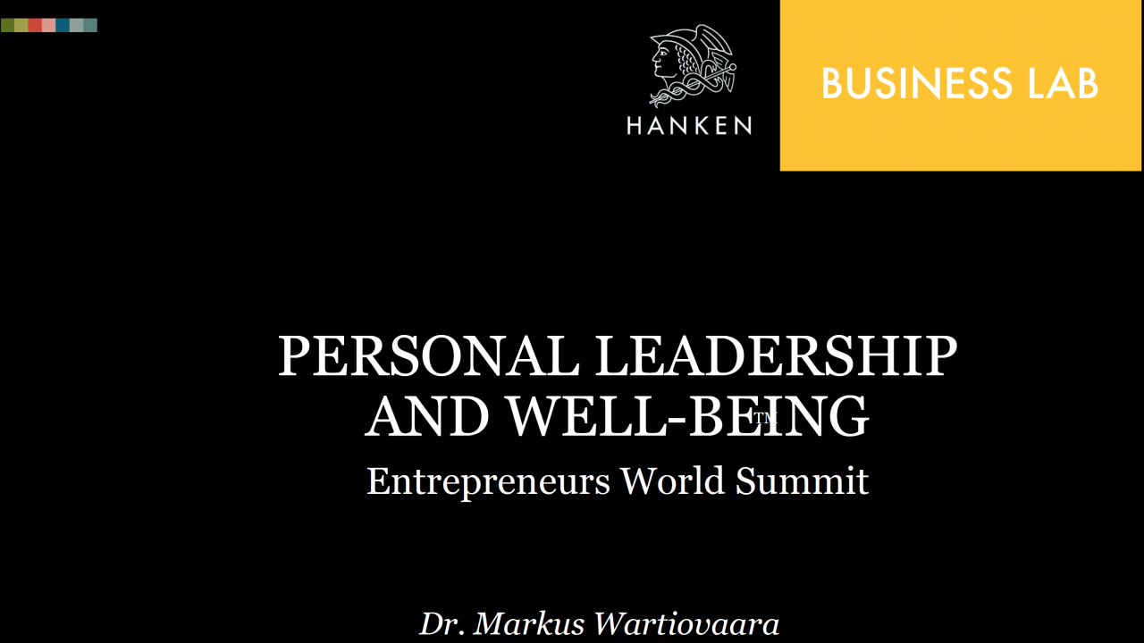 Business Lab personal leadership
