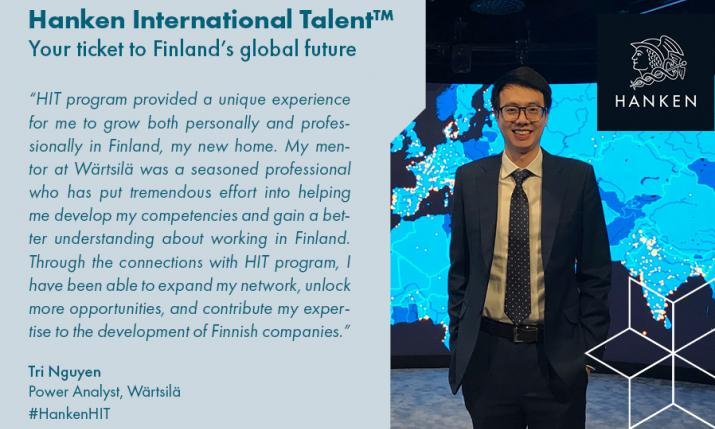 Tri Nguyen got a mentor from Wärtsilä who helped him to develope his competencies and gain a better understanding about working in FInland.