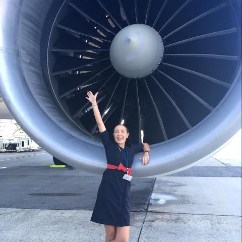 Claire Dubosc, MSc student interested in aviation